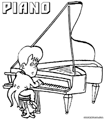 piano coloring pages coloring pages to download and print