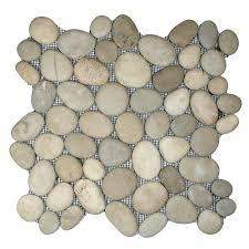 tan pebble bathroom u0026 shower flooring pebble tile shop