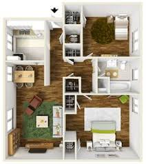 Two Bedroom Apartments Floor Plans 700 Square Foot One Bedroom Apartment Floor Plan Furnished