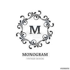 vintage vector logo design decorative ornament flourishes fram
