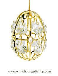 egg ornament swarovskiâ easter egg from the white house gift shop