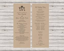 Vintage Wedding Programs Infographic Rustic Wedding Programs Vintage Stats Ceremony