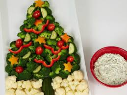 crudite tree with sour and chive dip recipe food