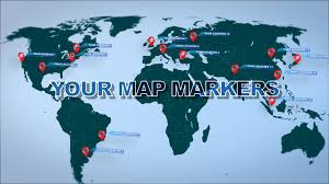 07 World Map by World Map Marker Location Pins Videoblocks
