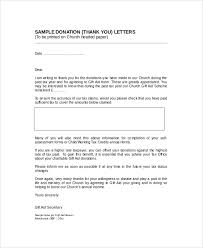 sle thank you letter for donation 8 exles in word pdf
