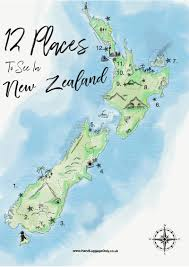 New Zealand On Map 12 Places You Need To Visit On A Trip Across New Zealand Hand
