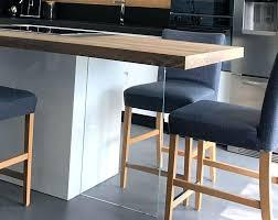 Pied De Cuisine - pied ilot cuisine table plan de travail avec pied enverre pied