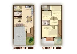 floor plans garage story townhouse building plans online 79182