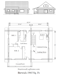 the berwick log house plan by heartwood log homes