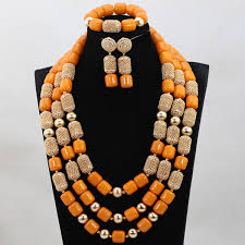 african wedding bead necklace images Luxury nigerian wedding beads jewelry set traditional african jpg