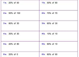 percentage worksheets grade 6 laptuoso percent of a number