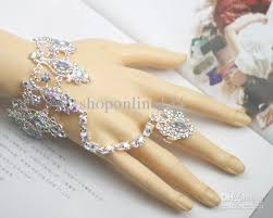 bracelet with ring designs images Crystal rings bracelet bridal jewelry artificial diamond bangle jpg