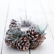 pine cone tea light holder silver glittered cone tea light holder christmas crafts
