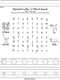 letter o word search for preschool kindergarten and early elementary