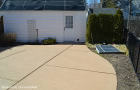 Tiling A Concrete Patio by How To Stain A Concrete Patio Exquisitely Unremarkable