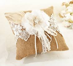 ring pillow burlap lace ring pillow ring pillows wedding essentials