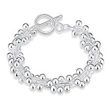 silver ball beads necklace images Na beauty sterling silver twist link brecelet with small silver jpg