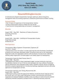 Transportation Manager Resume Stop Resume Examples Lukex Co
