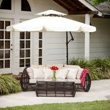 Patio Umbrella Replacement by Furniture Black Cantilever Umbrella With Cozy Sofa And Rug For
