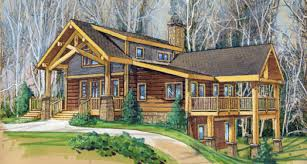 log home floor plans with basement hickory bluff