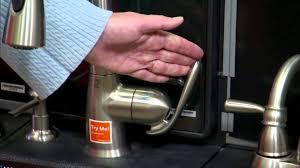 nickel moen motionsense kitchen faucet single hole handle pull