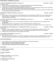 personal resume exle litigation attorney resume relevant representation employment