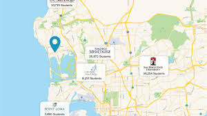 San Diego State Map by Starbucks Retail 1359 Garnet Avenue San Diego Ca 92109
