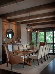 rustic farmhouse dining table room new lighting warm and cozy