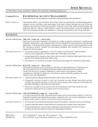 Construction Job Description For Resume by Account Manager Resume Account Manager Cv Example 7 Account
