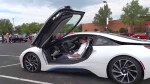 matte bmw i8 stunning white bmw i8 walkaround youtube