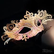 pink masquerade masks heiress masquerade mask gold pink m7100 beyondmasquerade