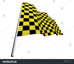 Yellow And White Flag Yellow Black Checked Racing Flag Vector Stock Vector 46727596