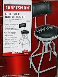 how to adjust craftsman garage door amazon com craftsman adjustable hydraulic seat stool black home