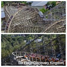 Where Is Six Flags America Six Flags Similarities California Coaster Kings