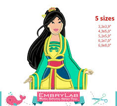 design doll 4 0 0 9 applique mulan chinese princess machine embrylab