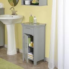 Floor Cabinet For Bathroom Riverridge Home Somerset Collection Grey Mdf Single Door Floor