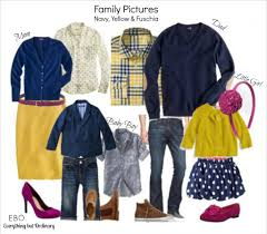 family picture ideas navy yellow and fuschia everything