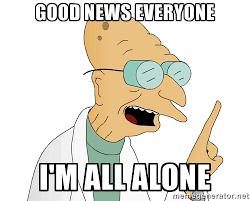 All Alone Meme - episode 112 all alone