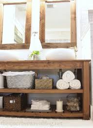 Bathroom Vanity With Shelves 34 Rustic Bathroom Vanities And Cabinets For A Cozy Touch Digsdigs