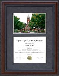 clemson diploma frame diploma frame with licensed clemson cus lithograph