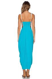blue mara hoffman embroidered turquoise maxi maxi dress on tradesy