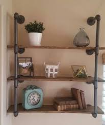 Black Pipe Shelving by Industrial Pipe Shelves Black Pipe Shelves By Seasonablyrustic
