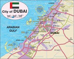 Dubai Map Of Middle East by Map Of Dubai United Arab Emirates Uae Map In The Atlas Of The