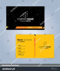 yellow black modern business card template stock vector 468299111