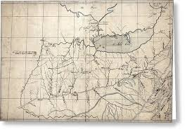 ohio river valley map great lakes and ohio river valley trappers map 1753 photograph by