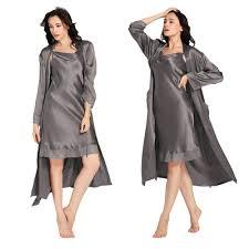 robe de chambre en soie femme ensemble robe de chambre et fond de robe en soie dentelle