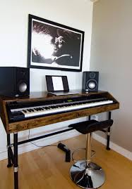 Studio Monitor Desk Stands by Wood Keyboard Piano Stand Electronic Keyboard 61 Key With Wooden