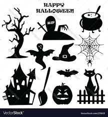 halloween silhouette vector halloween silhouette icons vector image 1483369 stockunlimited 6