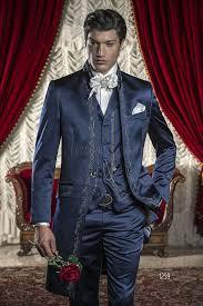 costume mariage homme bleu costume mariage homme en satin bleu avec broderies noires et argentées