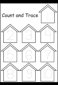 Preschool Worksheet Trace Numbers Birdhouse 1 Png 1 324 1 937 Pixels Due Fun